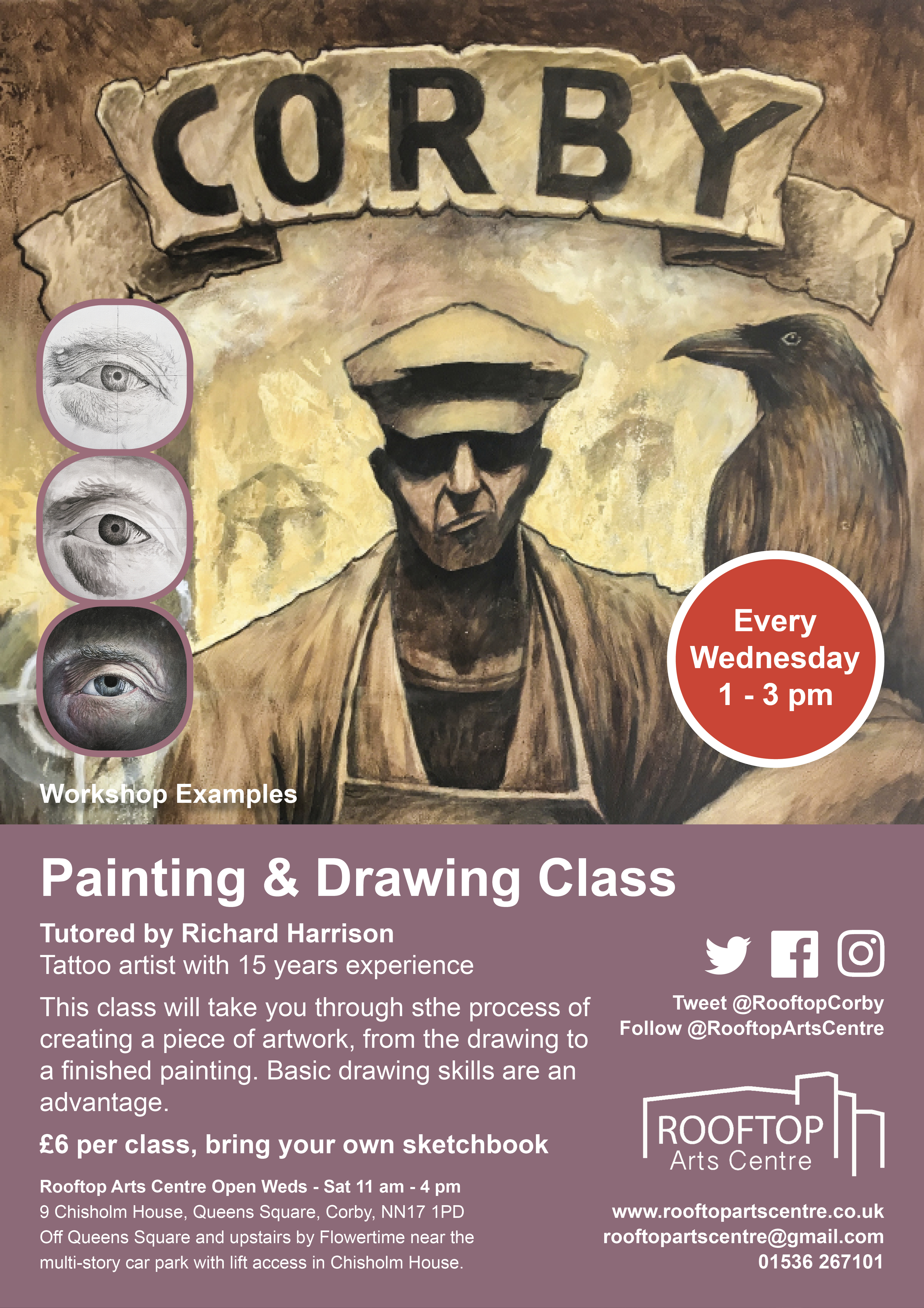 Painting & Drawing Class Poster 2019