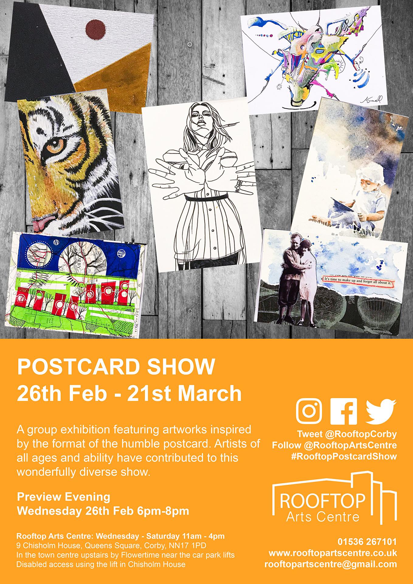 Postcard Show Exhibition Poster